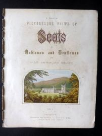 Morris Sears C1870 Picturesque Views of Seats of Noblemen Illus Title Page